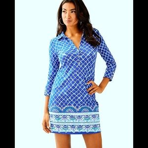 UPF 50+ Ansley Polo Dress Lilly Pulitzer LARGE